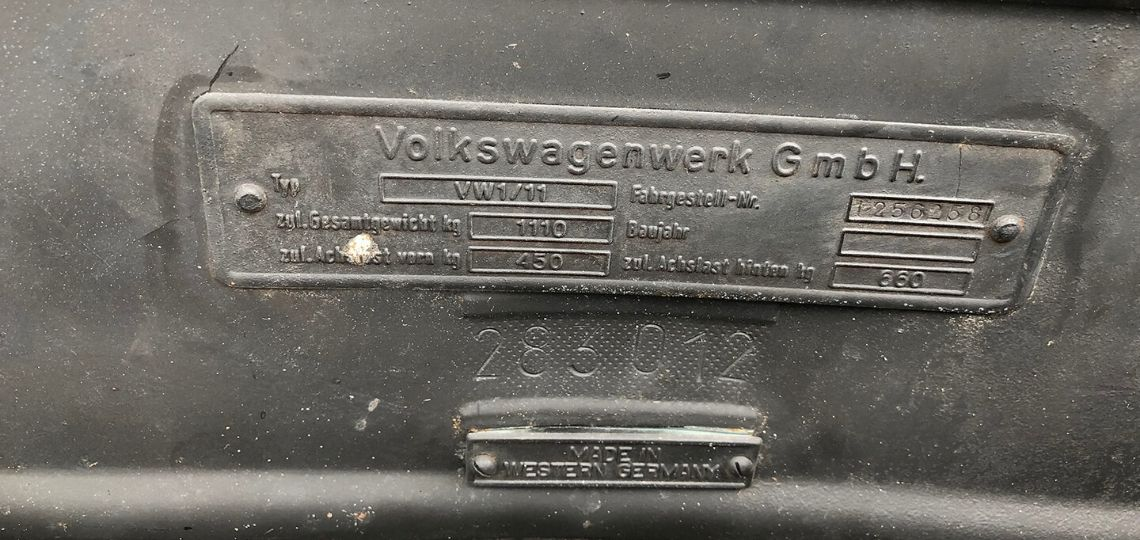 1956 Oval Chassis Plate