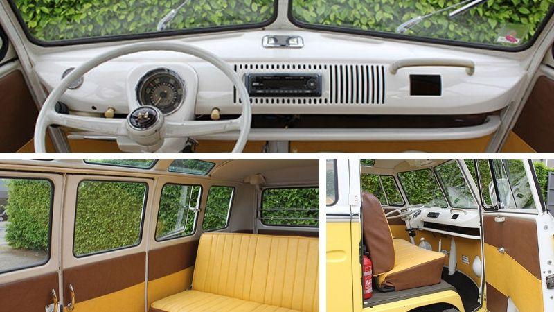 1967 21 window vw samba interior