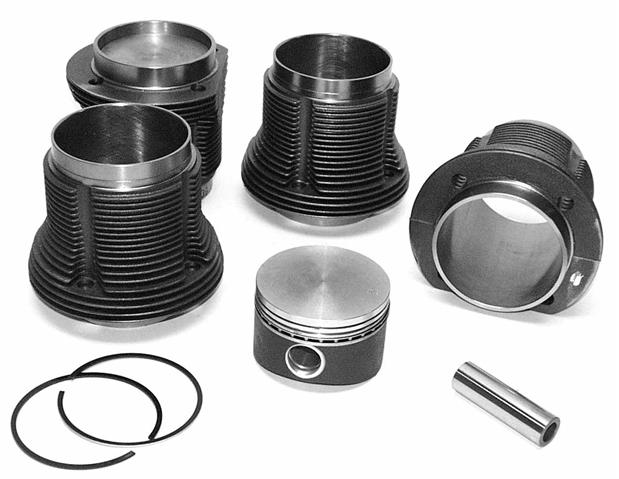 Aircooled VW Engine Displacement Barrels and Pistons