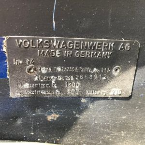 VW Karmann Ghia Chassis Codes