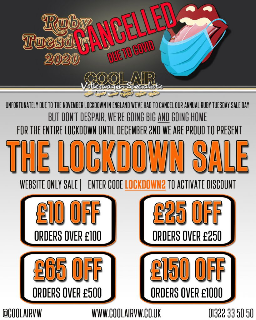 The Lockdown Sale. £150 Off Orders over £1000.