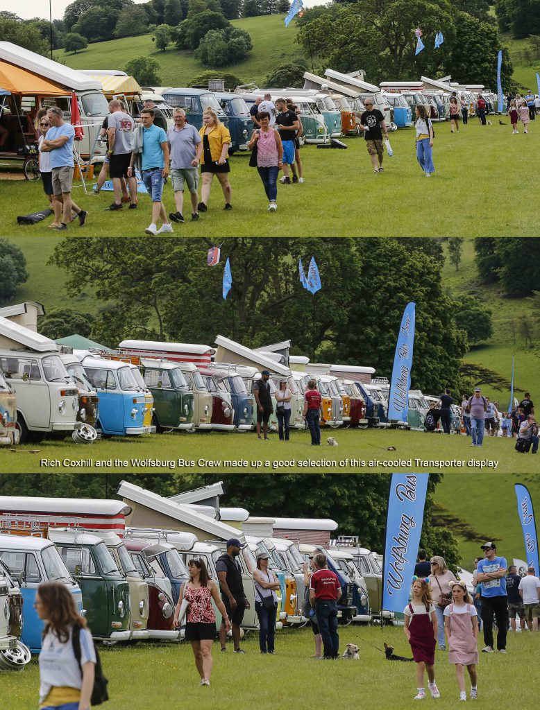 Line of VW Buses at Stonor Park VW Show 2019