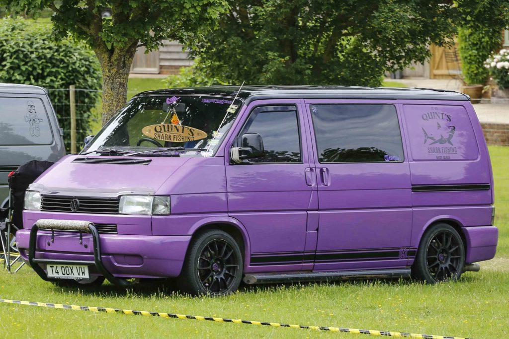 Purple Wrapped VW T4 Transporter