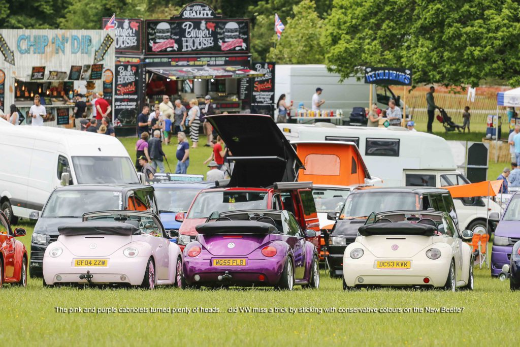 New Shape VW Beetles at Stonor Park VW Show 2019