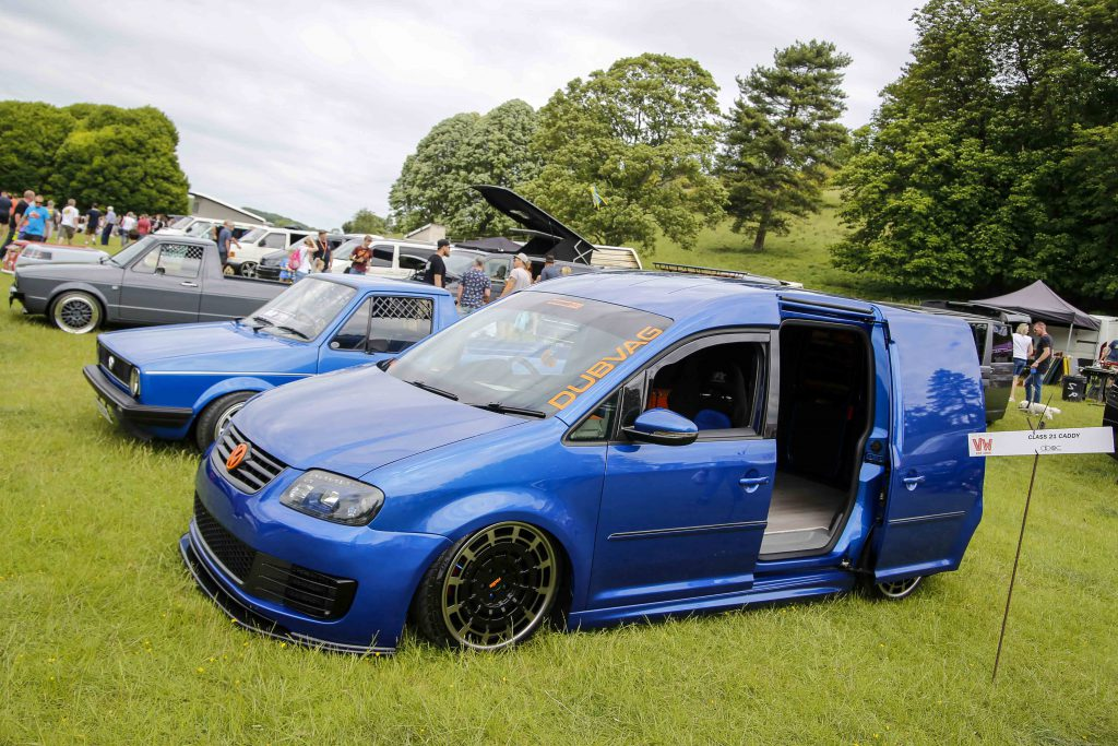 Blue VW Caddy at Stonor Park VW Show 2019