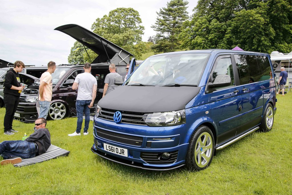 Dark Blue Transporter at Stonor Park VW Show 2019