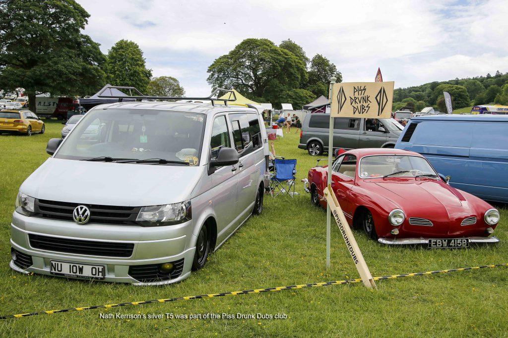 Very Low T5 next to a VW Karmann Ghia