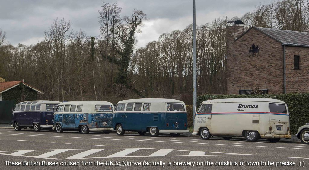 British VW Campervans on their way to Ninove 2019