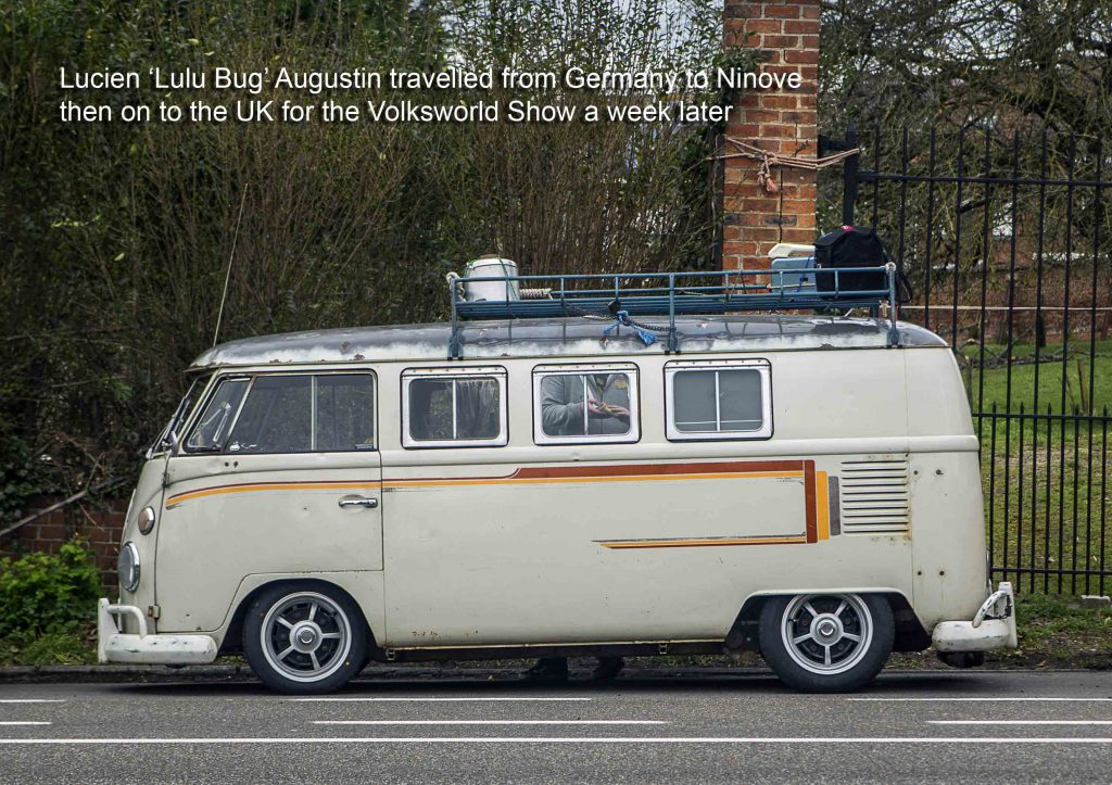VW Splitscreen Bus on its way to Ninove 2019 and the Volksworld Show