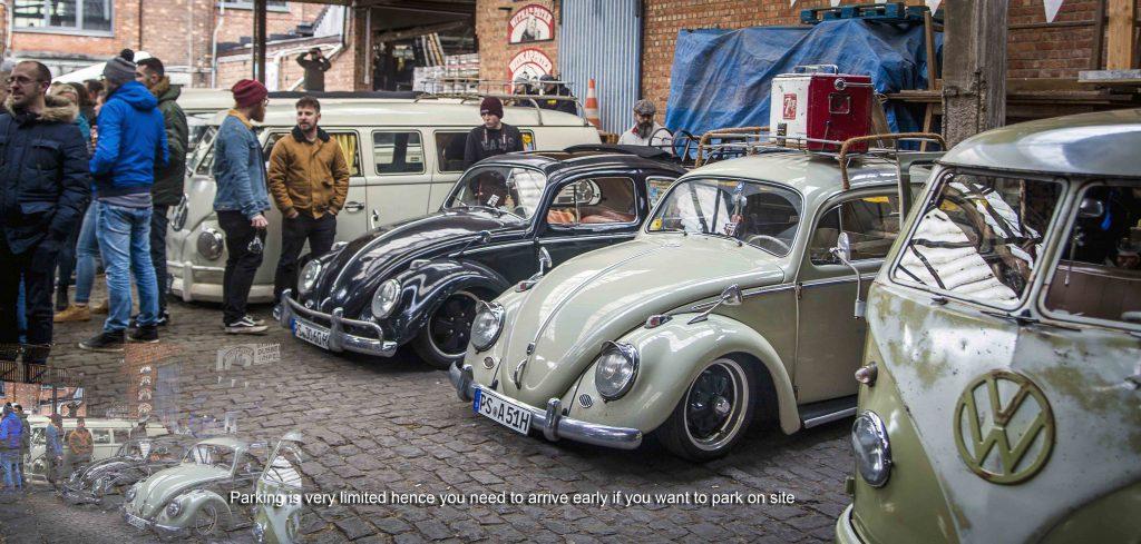 VW Beetles parked up at Ninove 2019