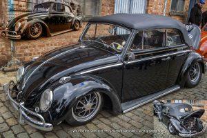 Black Cabriolet Beetle at Ninove 2019