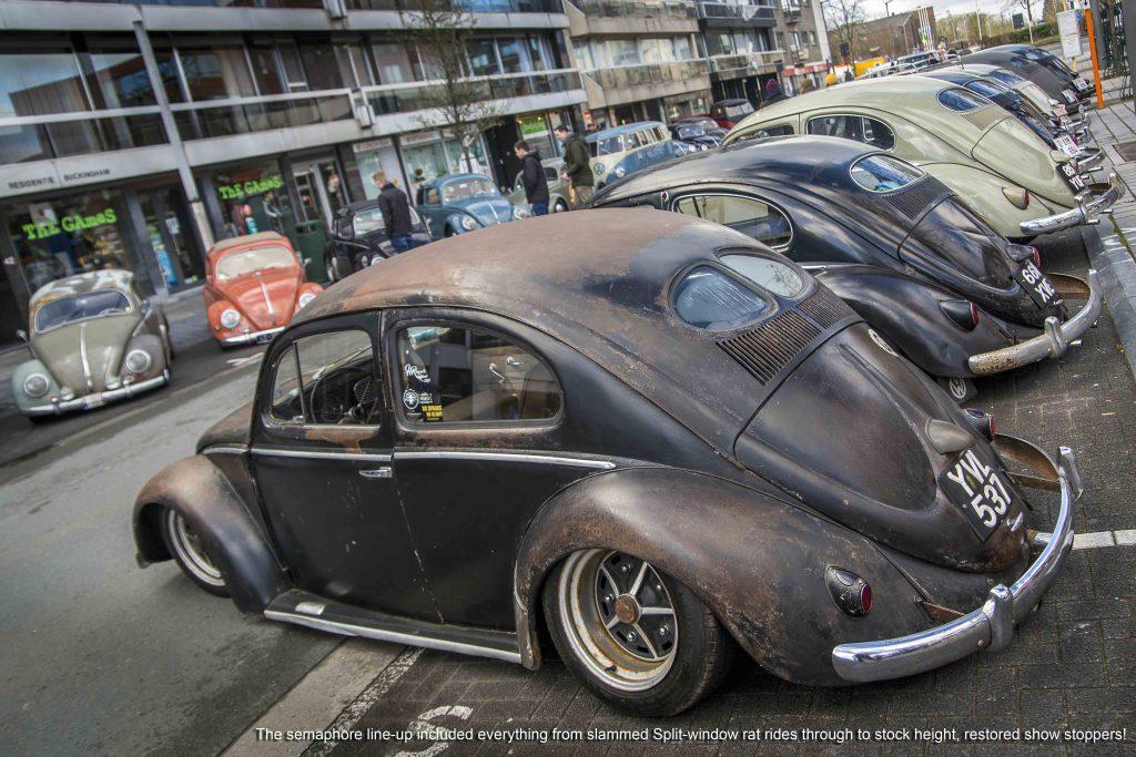 Semaphore VW Beetle line up at Ninove 2019