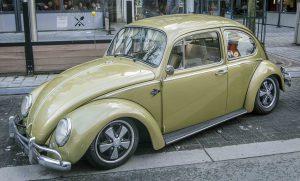 Green VW Beetle at Ninove 2019