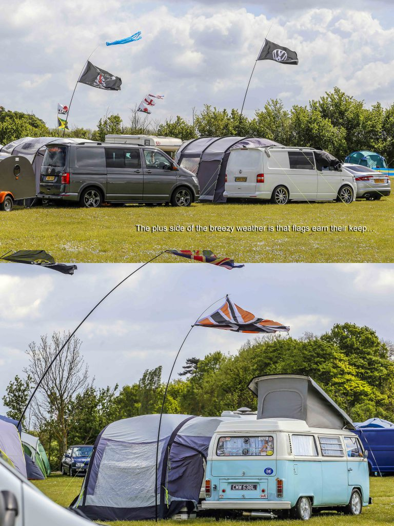 VW Late Bay Campervan with Awning