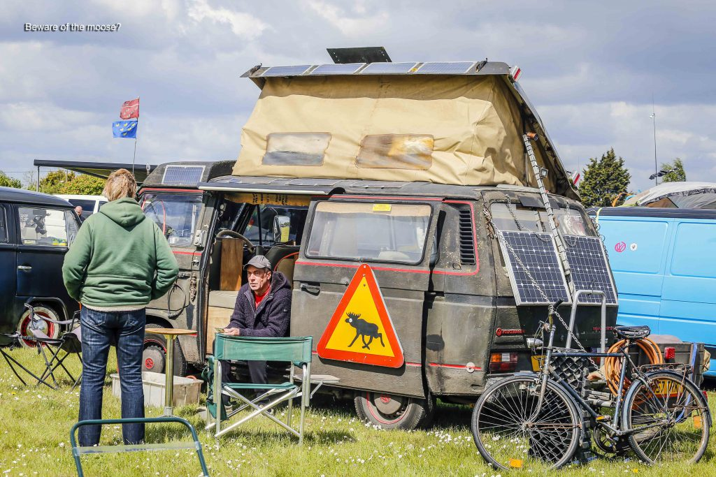 Dirty Type 25 Campervan with Poptop at VW Tomie 2019