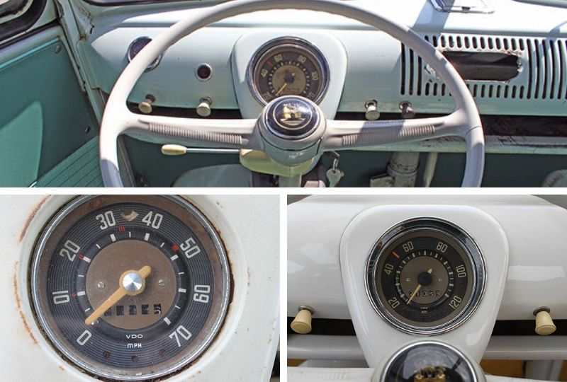 VW Splitscreen Dashboard Speedometer