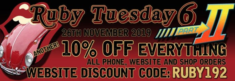 Ruby Tuesday 2 10% Discount. Use Discount Code RUBY192